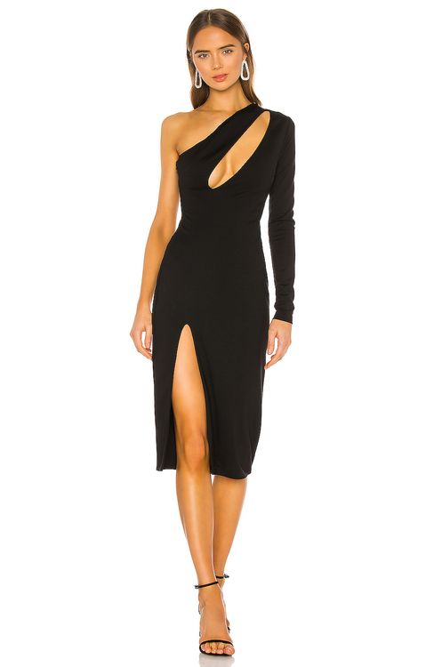 h:ours Pagne Midi Dress