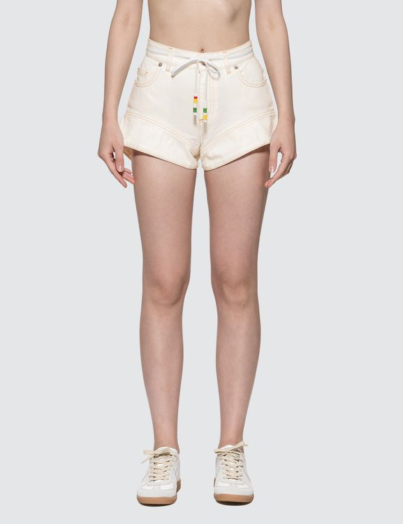 J.W.Anderson Flared Cuff Denim Shorts