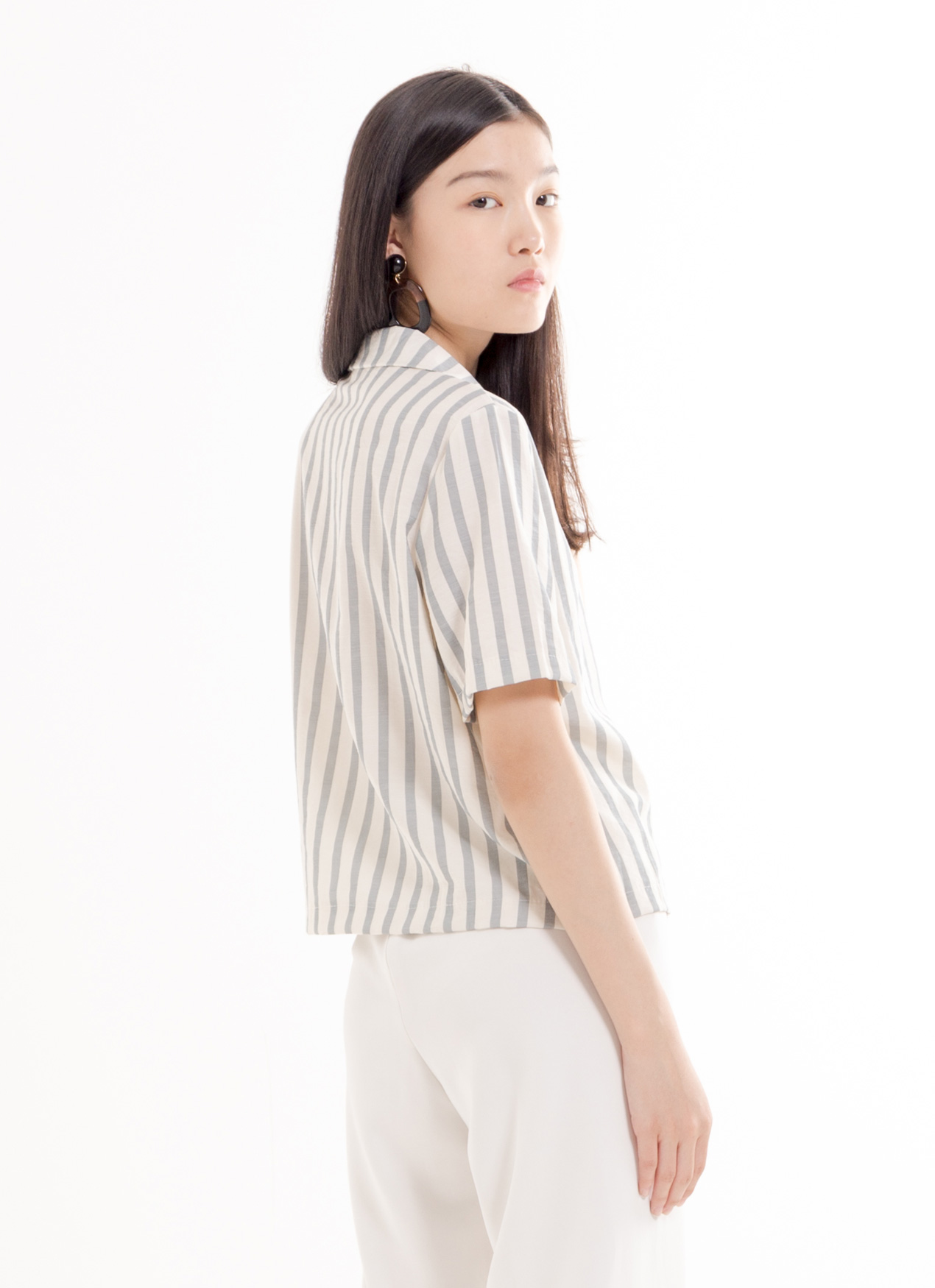 BOWN Rhymee Top - Stripe Blue