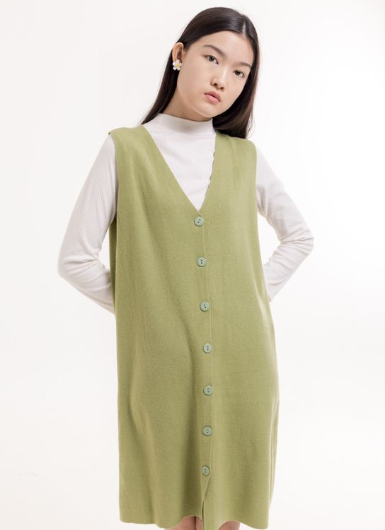 BOWN Walton Dress - Lime Green