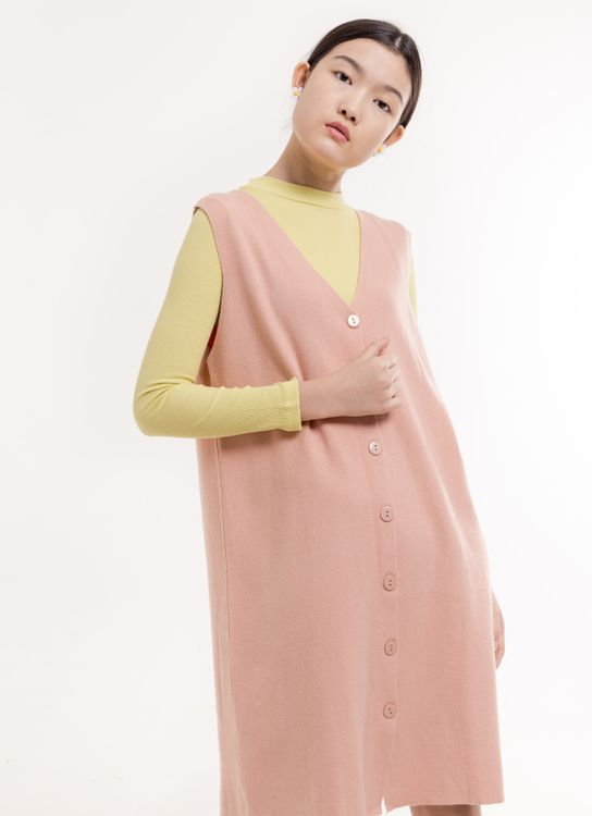 BOWN Walton Dress - Dusty Pink