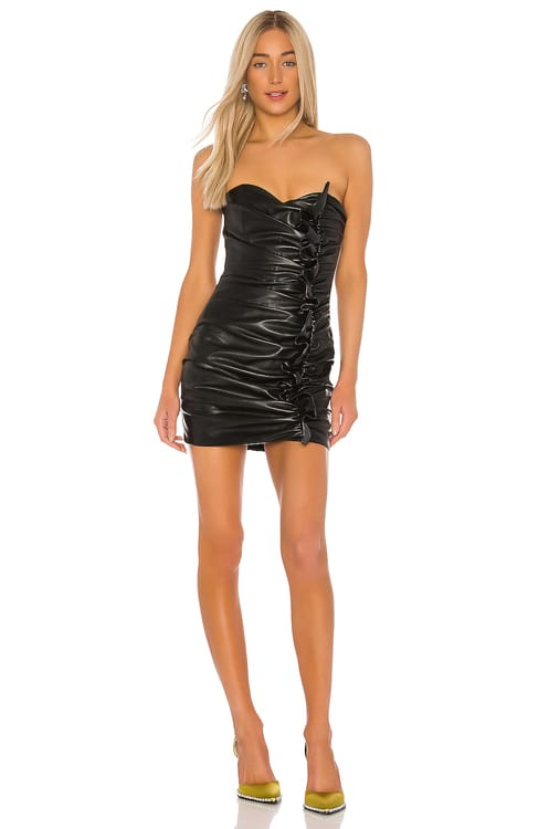GIUSEPPE DI MORABITO Leather Mini Dress