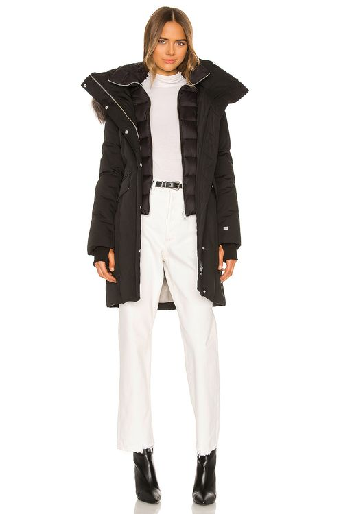 Soia & Kyo Emele Parka With Faux Fur Trim