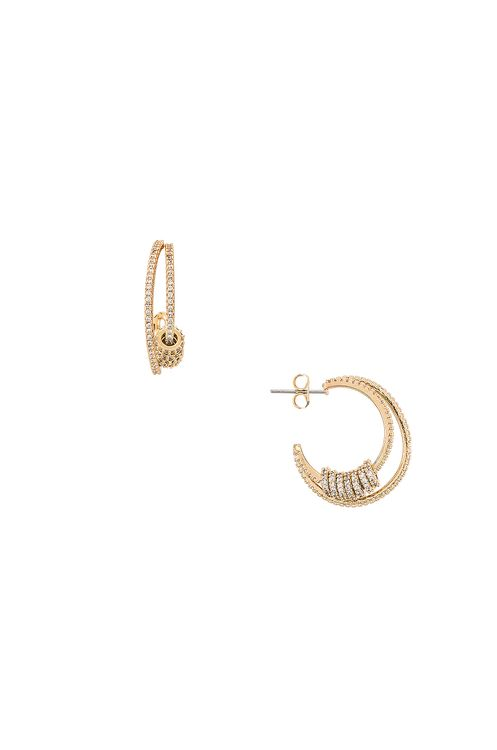 Ettika Ring Double Hoop Earrings