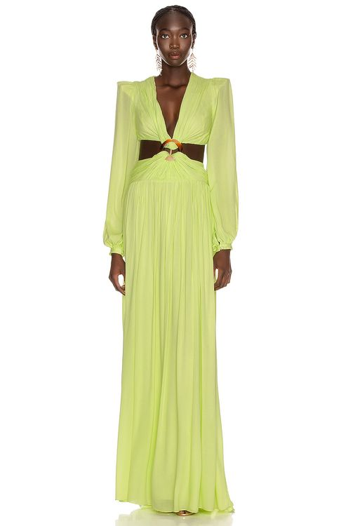 PatBo for FWRD Neon Cutout Gown