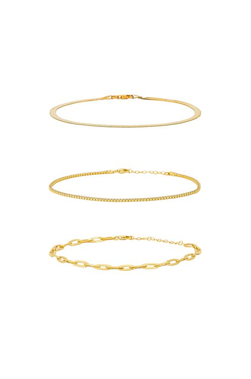 The M Jewelers NY Anklet Set