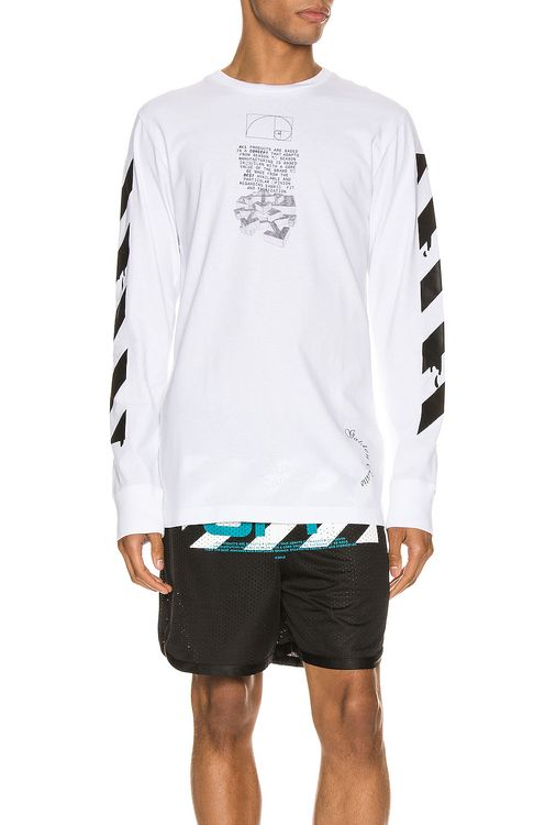 Off-White Dripping Arrows Long Sleeve Tee