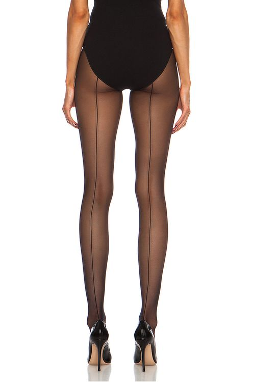 Wolford Individual 10 Back Seam Polyamide-Blend Tights