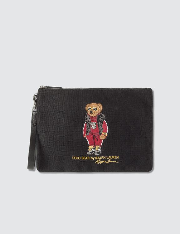 Polo Ralph Lauren Embroidered Polo Bear Pouch