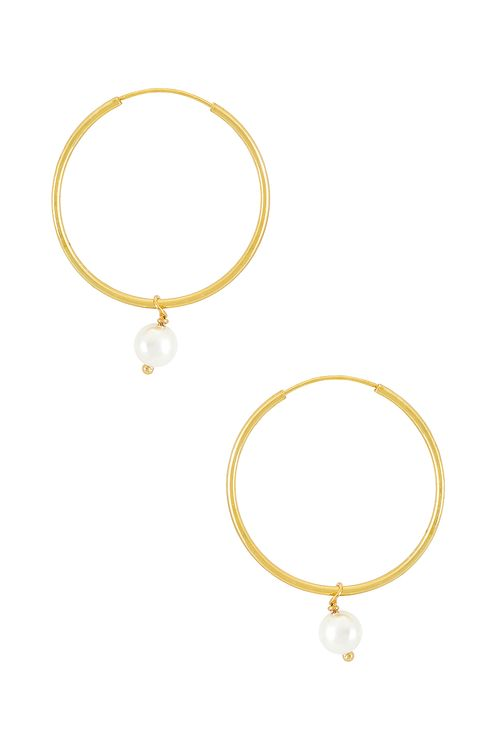 The M Jewelers NY The Hanging Lia Pearl Earrings