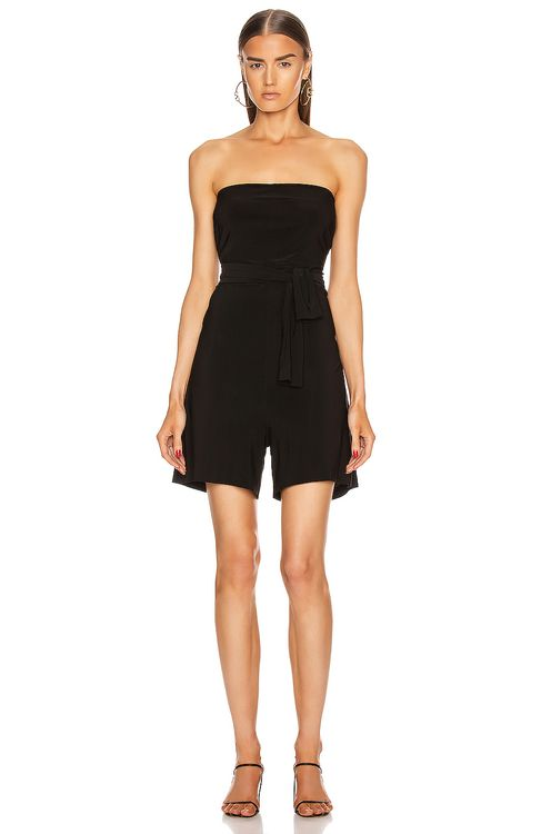 Norma Kamali TY Front All In One Strapless Jumpshort