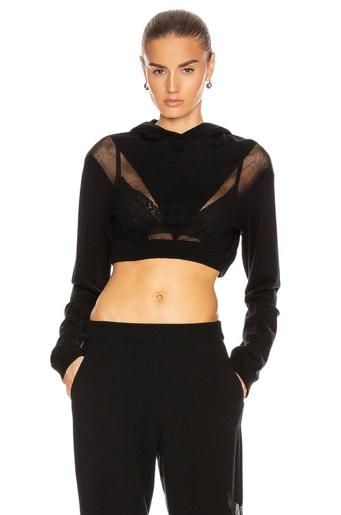 Zeynep Arcay Cropped Knit Sweater