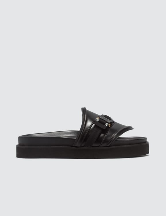 1017 ALYX 9SM Buckle Leather Slides