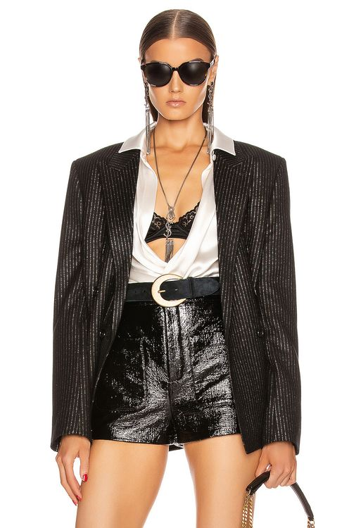 Saint Laurent Pinstripe Double Breasted Jacket
