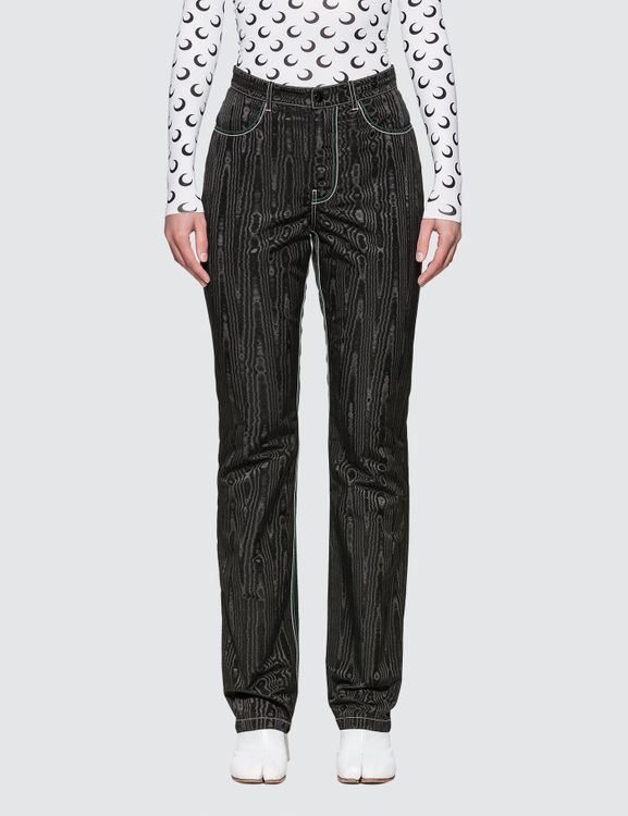 Marine Serre Straight Pants With Back Zipper Detail