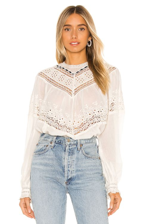 Free People Abigail Victorian Top