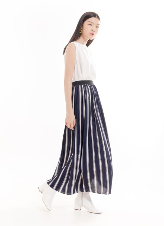 BOWN Roseate Skirt - Stripe Navy