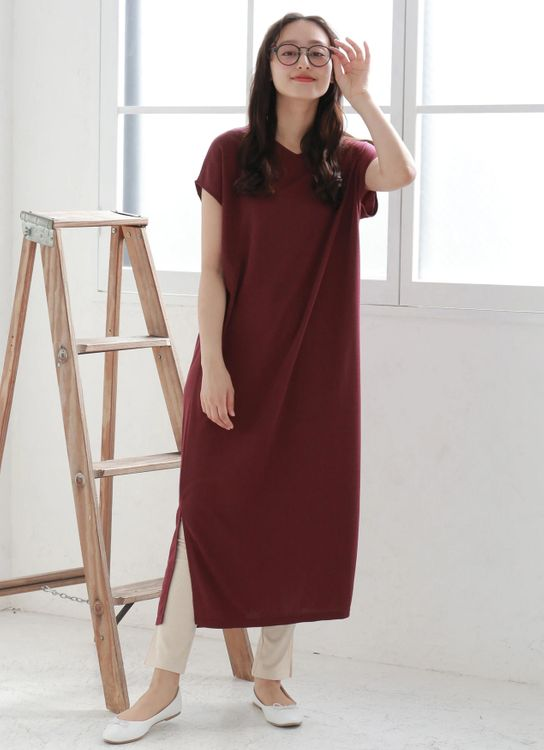 E-hyphen World Gallery Shigeko Dress - Dark Red