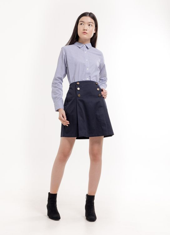 Earth, Music & Ecology Stella Skirt - Navy