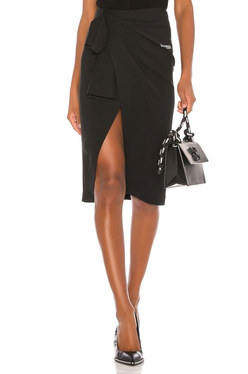 Off-White Wrap Skirt