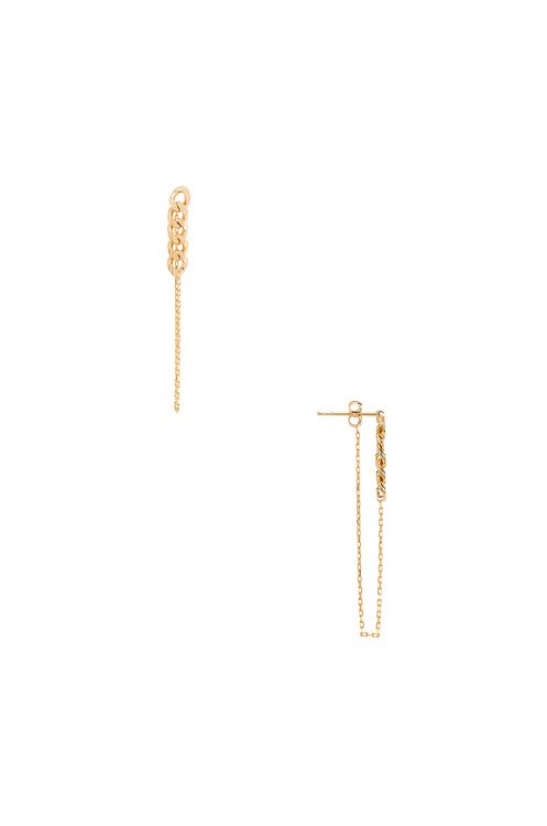 Natalie B Jewelry Lennox Chain Earring