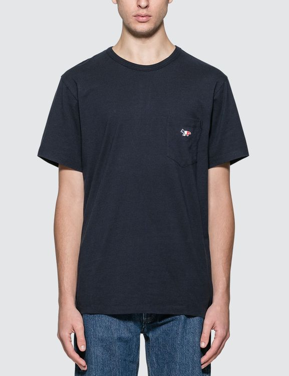 MAISON KITSUNE Tricolor Fox Patch T-shirt