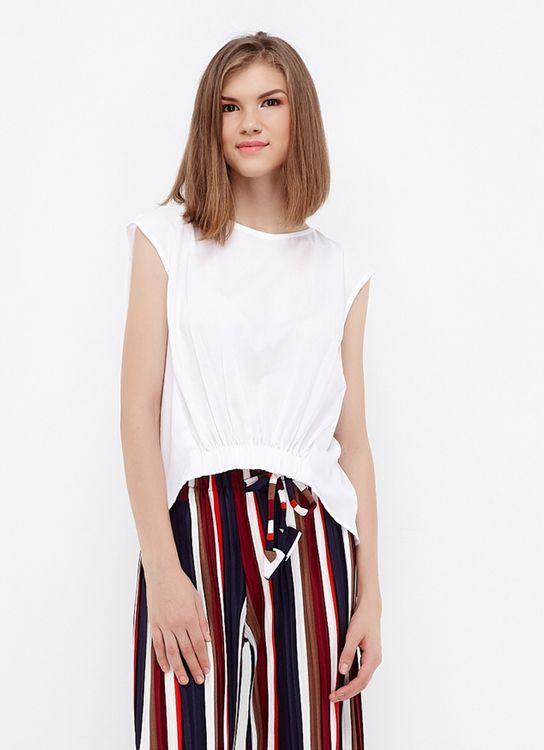 Ree High Low Blouse - White