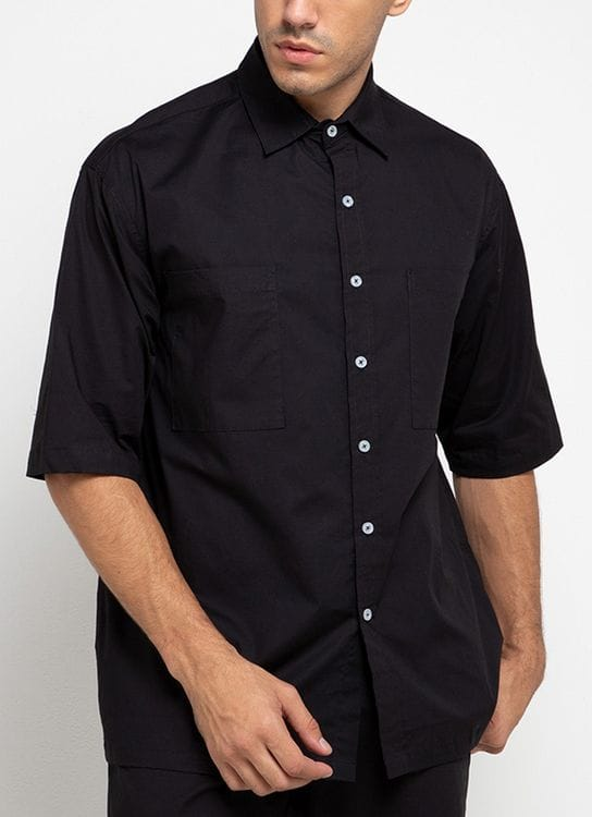 Gavi Black Dual Pocket Shirt