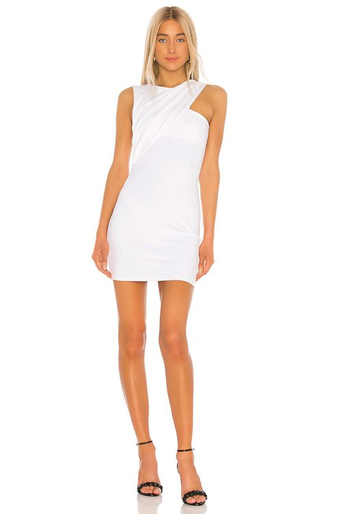 Susana Monaco Sleeveless Gathered Crossover Dress