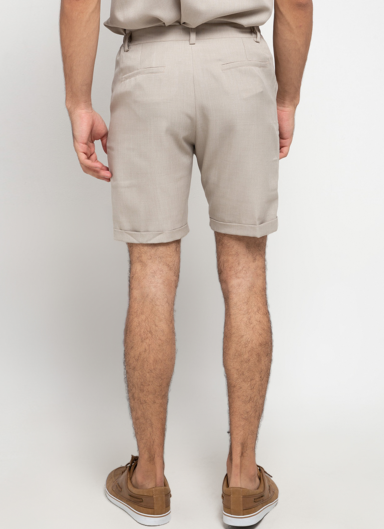 Gavi Beige Poly Shorts