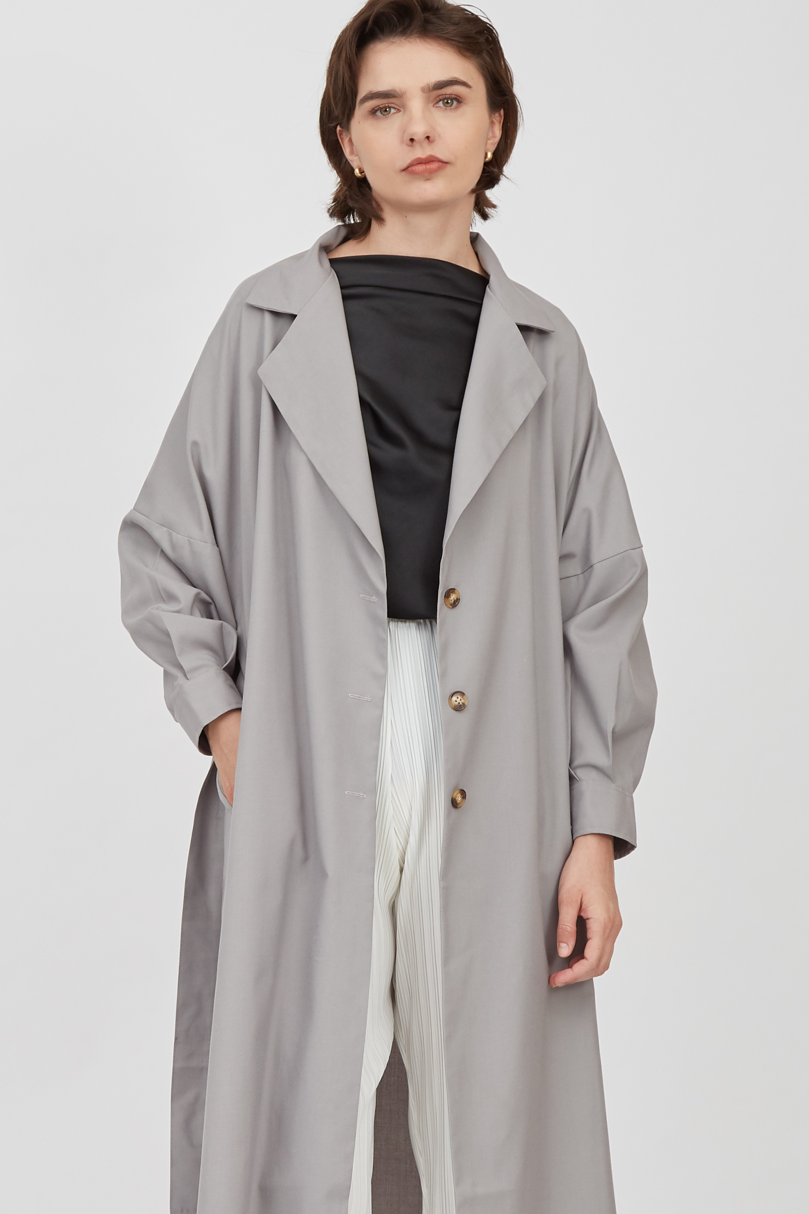 Shopatvelvet Globe Coat Grey
