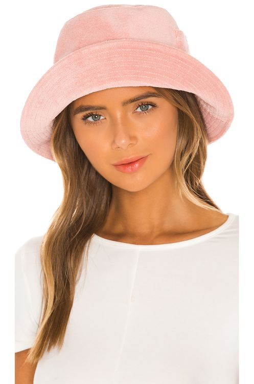Lack of Color Peach Terry Cloth Bucket Hat