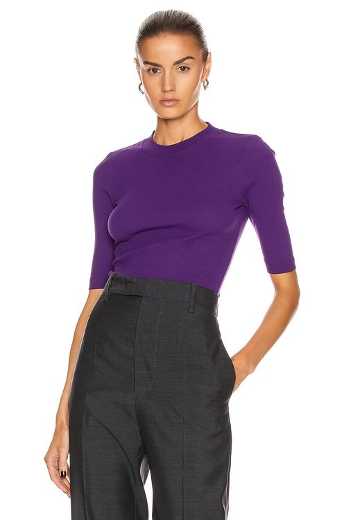 Rosetta Getty Cropped Sleeve T Shirt
