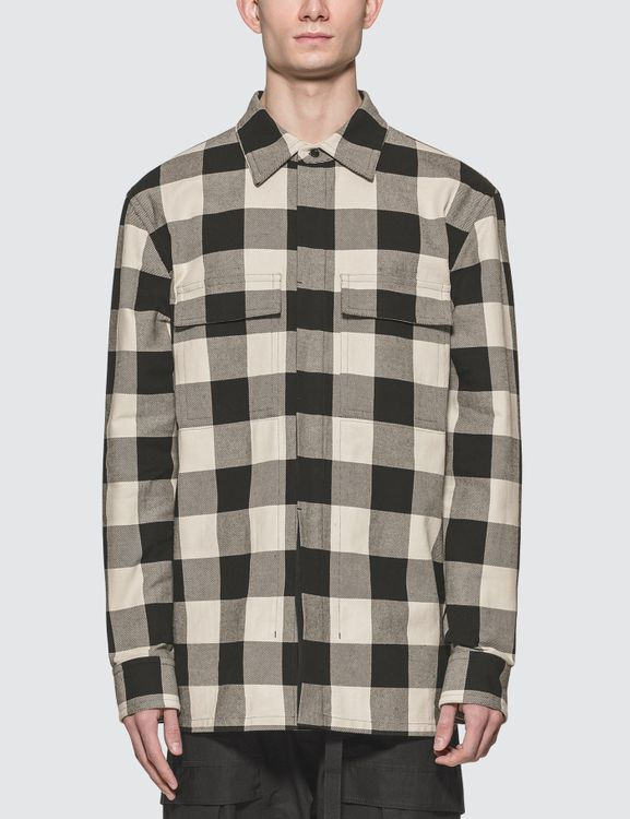 Bottega Veneta Plaid Long Sleeve Pocket Shirt