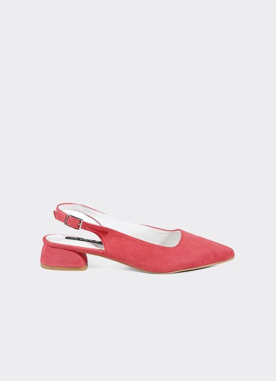 INPACA Yura Sling Back Shoes with Low Heel Fuchsia