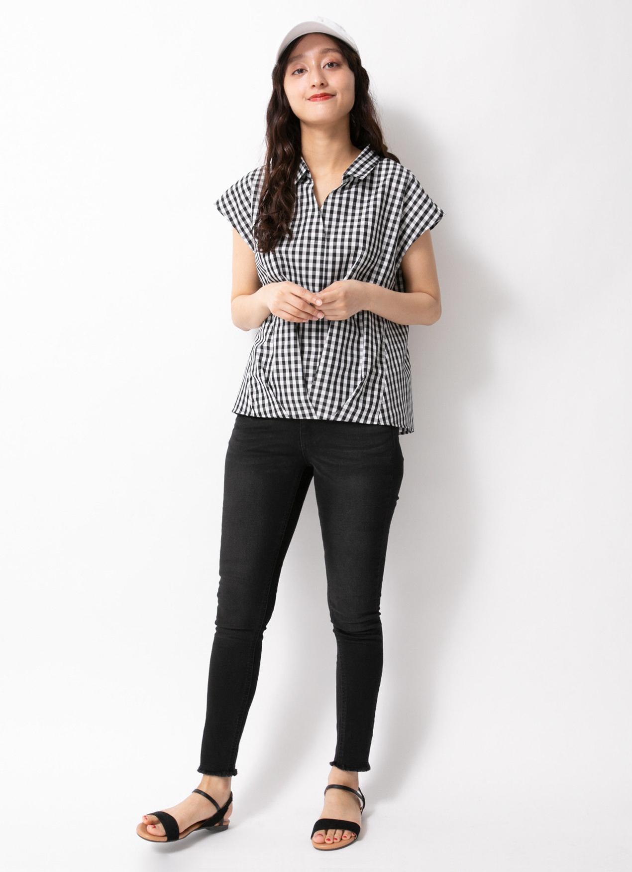 E-hyphen World Gallery Odell Top  - Gingham Check