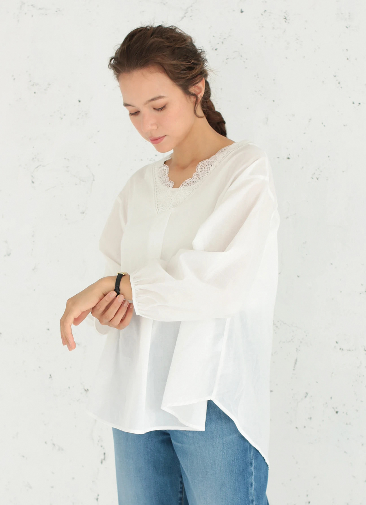 Earth, Music & Ecology Cassia Top - Off White