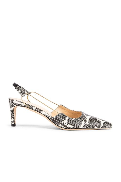 By Far Gabriella Snake Print Leather Pump