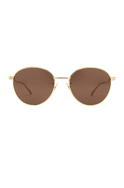 Bottega Veneta Metal Round Sunglasses