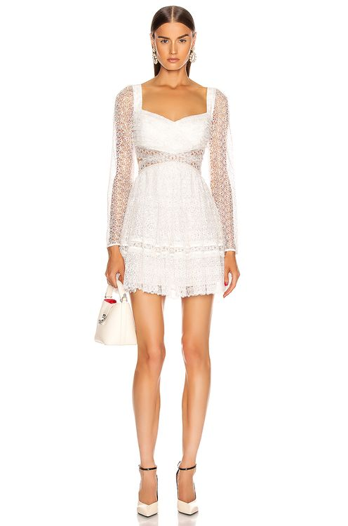 Self Portrait Lace Cut Out Mini Dress