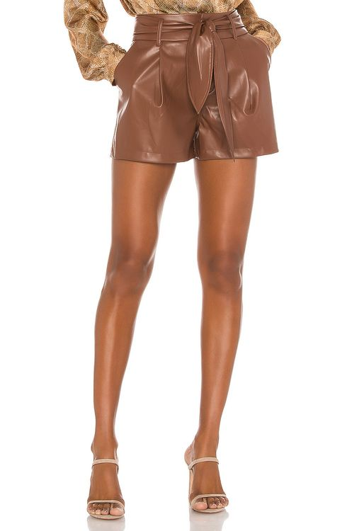 David Lerner Lexi High-Waist Pleated Short