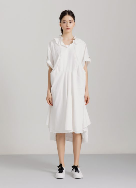Dua Awan Studios Oversized LIMESTONE Dress - White