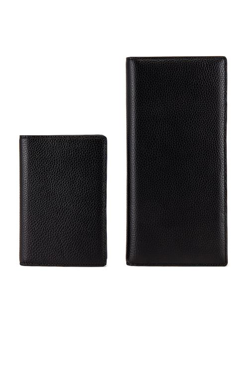 the daily edited Black Pebbled Travel Wallet