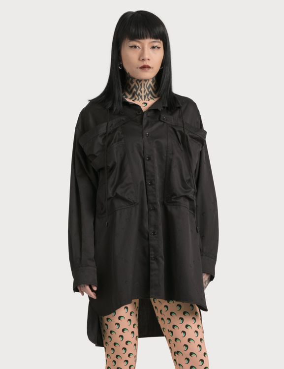 Marine Serre Oversized Shirt With Large Pockets Detail