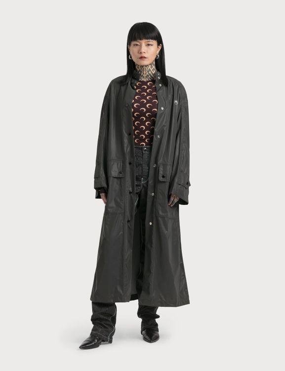 Marine Serre Long Reflective Logo Raincoat