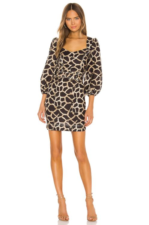 Rebecca Vallance Acacia Long Sleeve Mini Dress