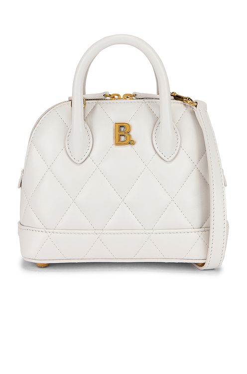BALENCIAGA XXS Quilted Leather Ville Top Handle Bag