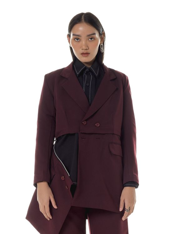 Aesthetic Pleasure Vardar Blazer Maroon