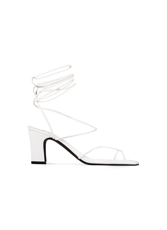 INPACA Athens Mismatches Multiway Strappy Heels  White
