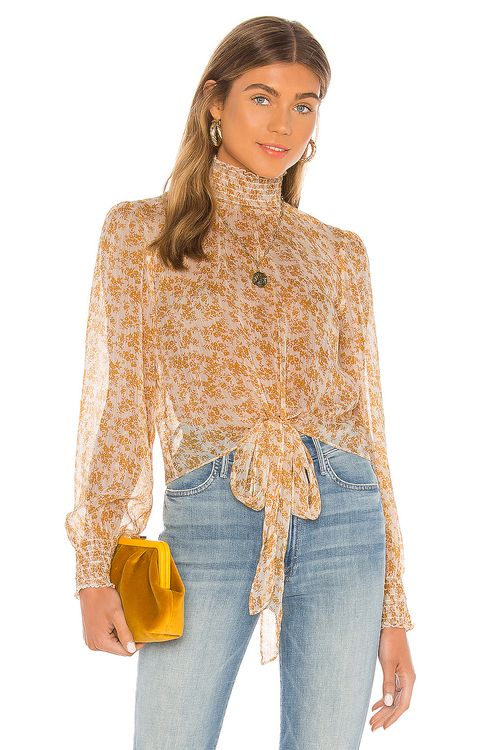 MINKPINK Lana High Neck Blouse
